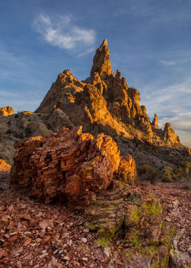 J.T. Dudrow - If you've ever come through Union Pass on your way in or out of Bullhead City/Laughlin you've probably seen this formation, Finger Rock.