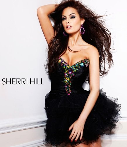 Sherri Hill 2912 Black/Multi Strapless Ruffled Short Dress Prom 6 New  http://www.mysharedpage.com/sherri-hill-2912-blackmulti-strapless-ruffled-short-dress-prom-6-new