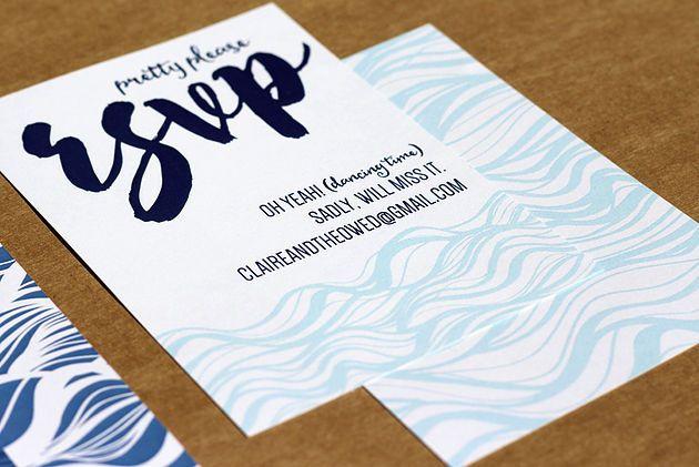 Leo & Ness | Wedding + Event Stationery | Beach Inspiration Ocean themed Invitation