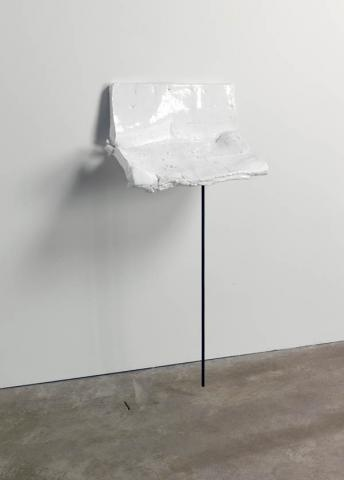 ROSEMARIE TROCKEL avalanche, 2008 Glazed ceramic, metal