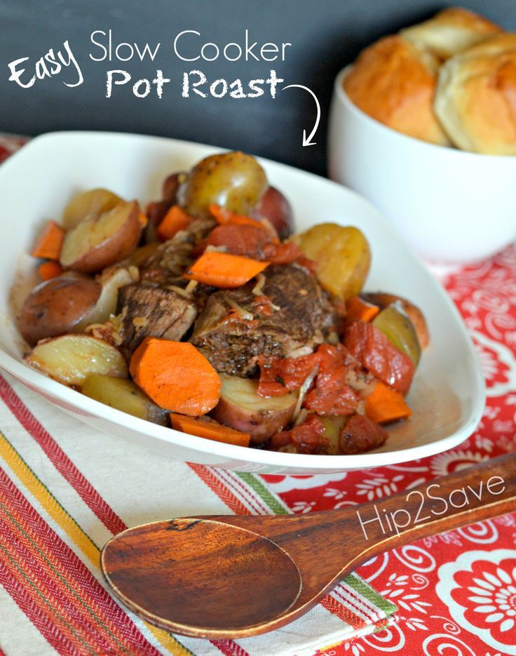 Easy Slow Cooker Pot Roast Recipe. | food i wanna try ...