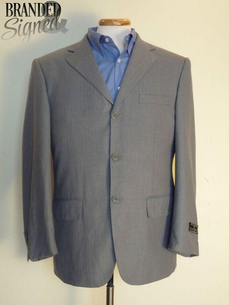 ZEGNA Suit JACKET men s 40 Regular Light Gray Wool 3 buttons THETES model USA