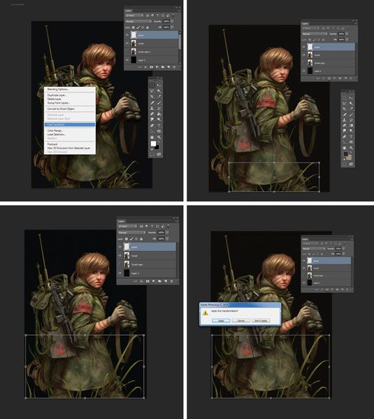 the beginners guide to photoshop - free transform