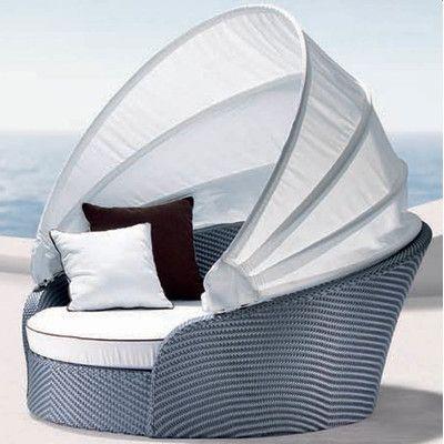 100 Essentials Eclipse Daybed with Cushions Finish: Java Antique, Fabric: Sunbrella Antique Beige