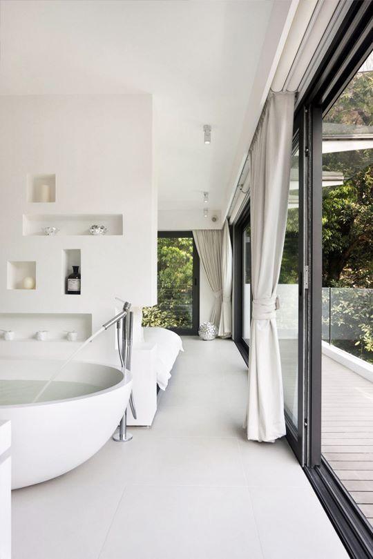 Bedroom With Bathroom: Best 25+ Modern White Bedrooms Ideas On Pinterest