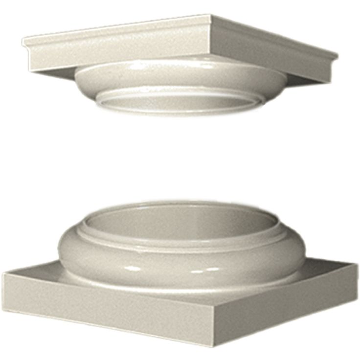 Turncraft 4.25-in x 10.875-in Unfinished Fiberglass Column Cap and Base Kit