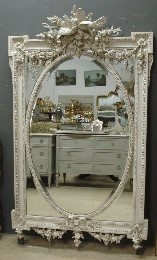 Spectacular large French antique mirror from www.jasperjacks.com