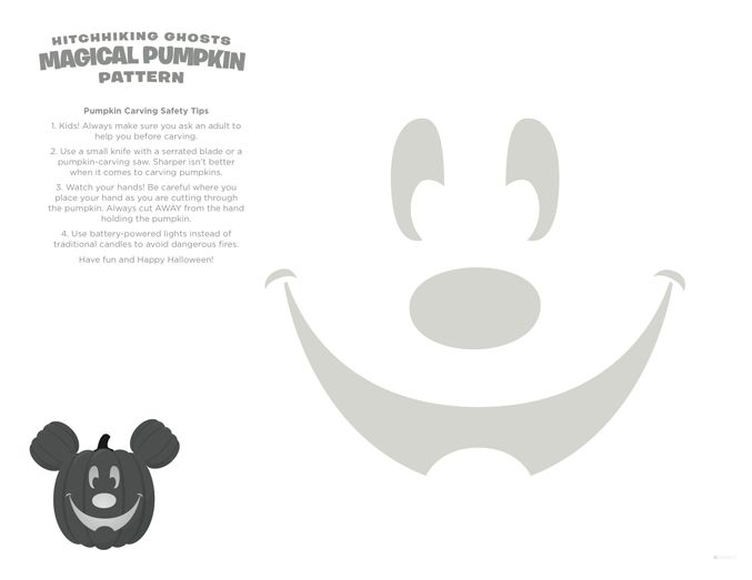 Mickey Mouse pumpkin carving pattern @Spoonful