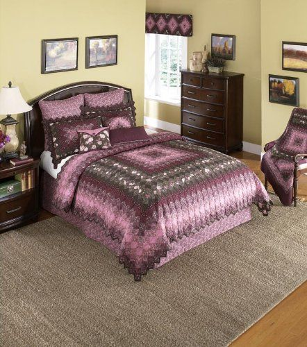 Donna Sharp Mauvelous Trip Around the World Cotton Deluxe King Quilt -- See this great product.