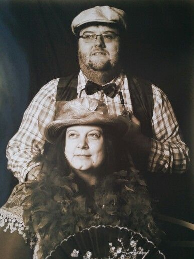 The hubs and myself in bygone gear