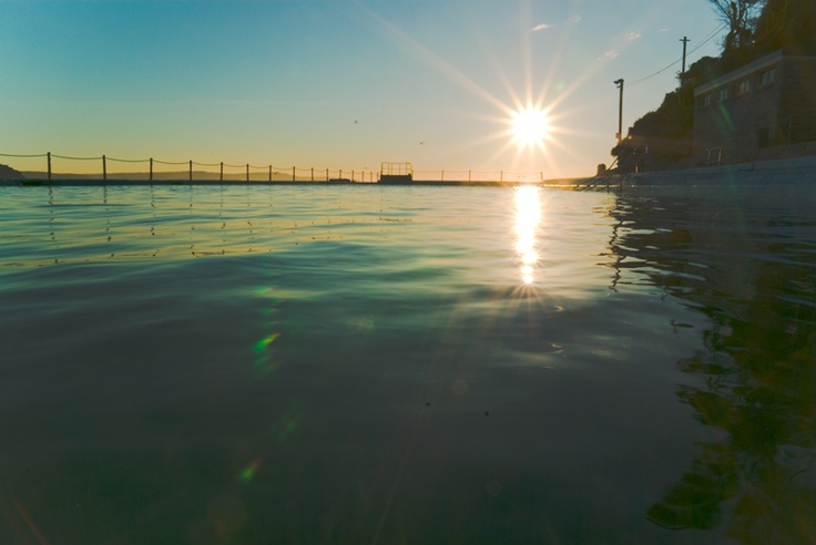 Sunrise over Palm Beach Pool - on the Northern Beaches of Sydney
