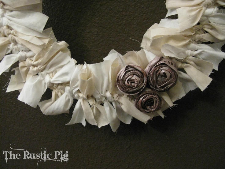 Wrag wreath or can use burlap pieces