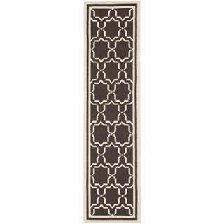 Safavieh Handwoven Moroccan Reversible Dhurrie Chocolate-Brown Wool Runner Rug (2'6 x 8') | Overstock.com Shopping - The Best Deals on Runner Rugs