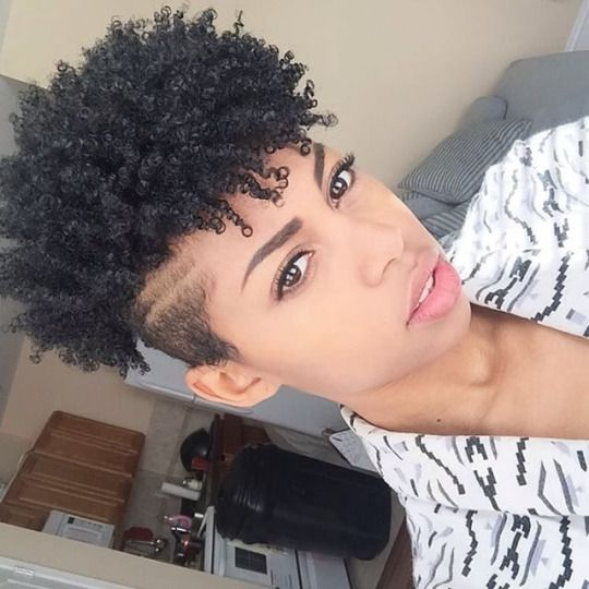 natural hair sides shaved undercut