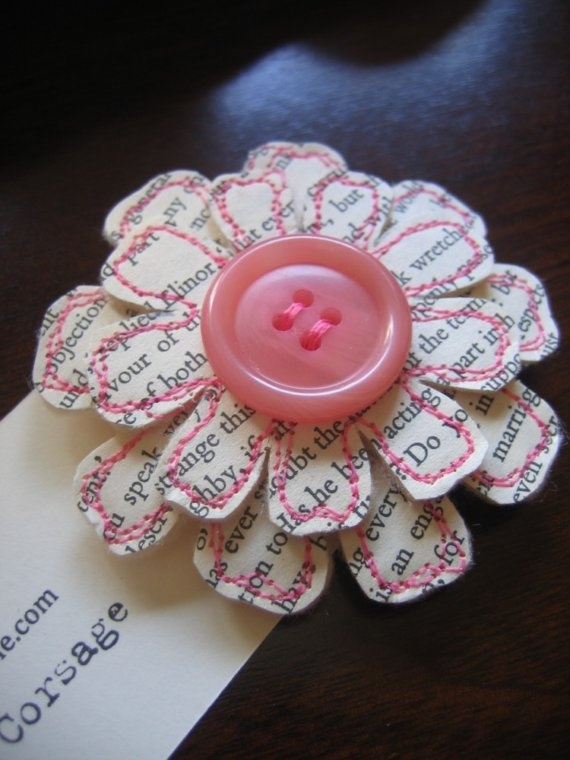 boutonniere  idea - paper and Felt flower - maybe add some greenery too. @Colby Wyckoff Wyckoff Schroeder
