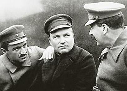 Anastas Mikoyan, Sergei Kirov, and Joseph Stalin, 1937.
