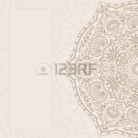 Vintage Ornamental Background With Place For Text. Royalty Free Cliparts, Vectors, And Stock Illustration. Pic 13567003.