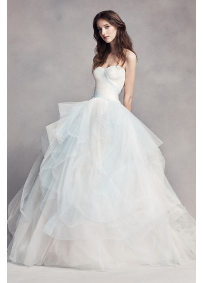 White by Vera Wang Ombre Tulle Wedding Dress VW351322