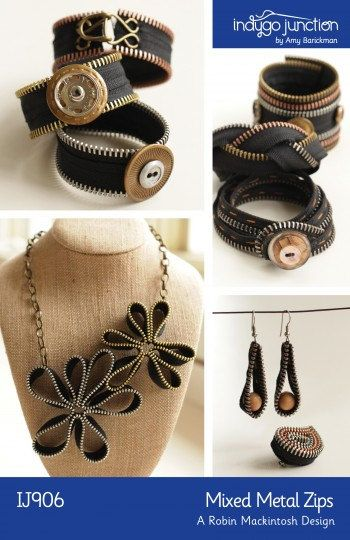 Metallic Jewerly Kit - Pattern & Supplies by indygojunction on Etsy, $50.00