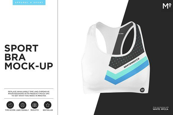 Sport Bra Mock-up by Mocca2Go/mesmeriseme on @creativemarket