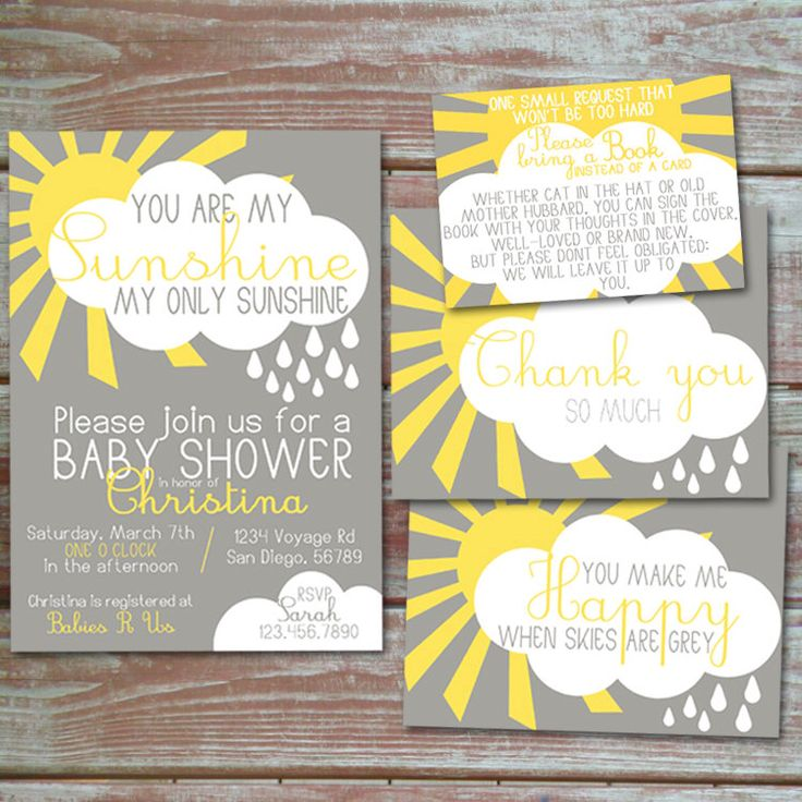 You Are My Sunshine Baby Shower Invitation Set By HennigDesigns On Etsy  Https://