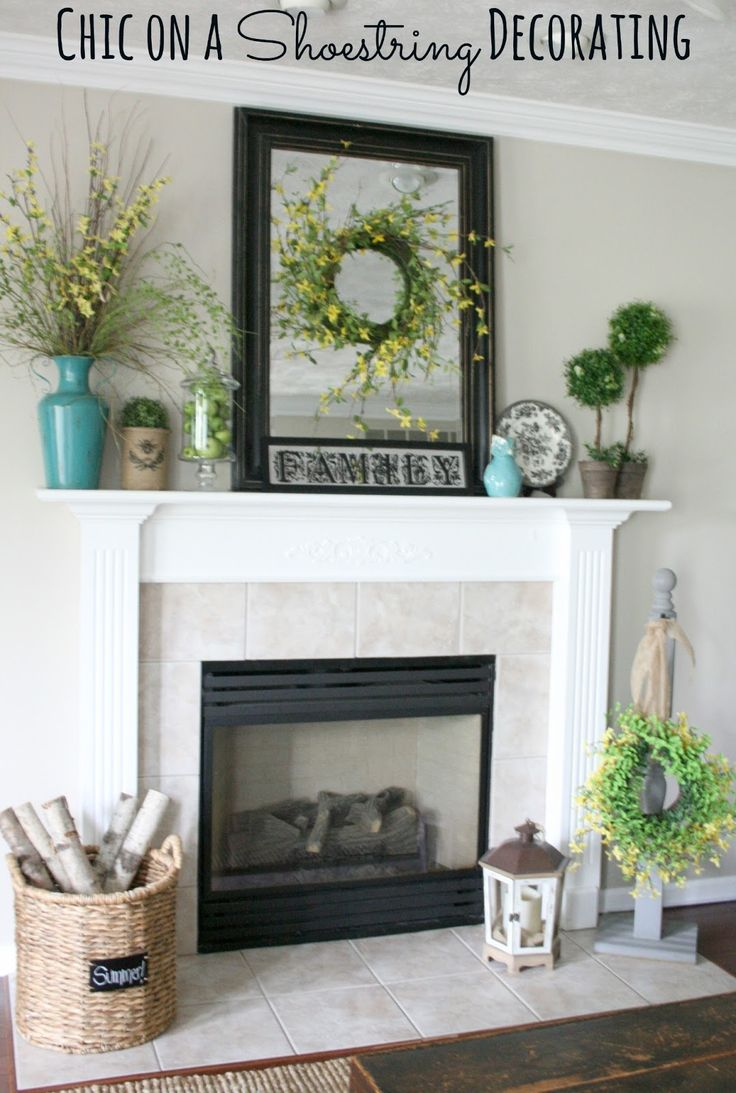 Decorating ideas lovely mantel decoration for white - Fireplace mantel decor ideas ...