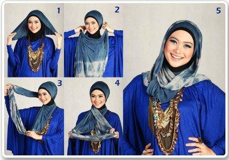 Kumpulan Gambar Tutorial Hijab Pashmina Trendy 2016