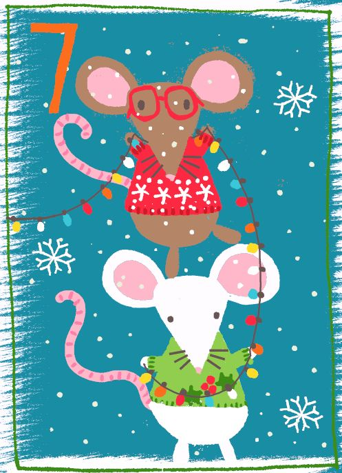 Day 7 Two little mice Just Kids Ltd Advent