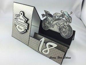 Carte anniversaire, moto                                                                                                                                                                                 Plus