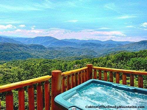 12 best gatlinburg cabins with hot tub images on pinterest for Best mountain view cabins in gatlinburg tn