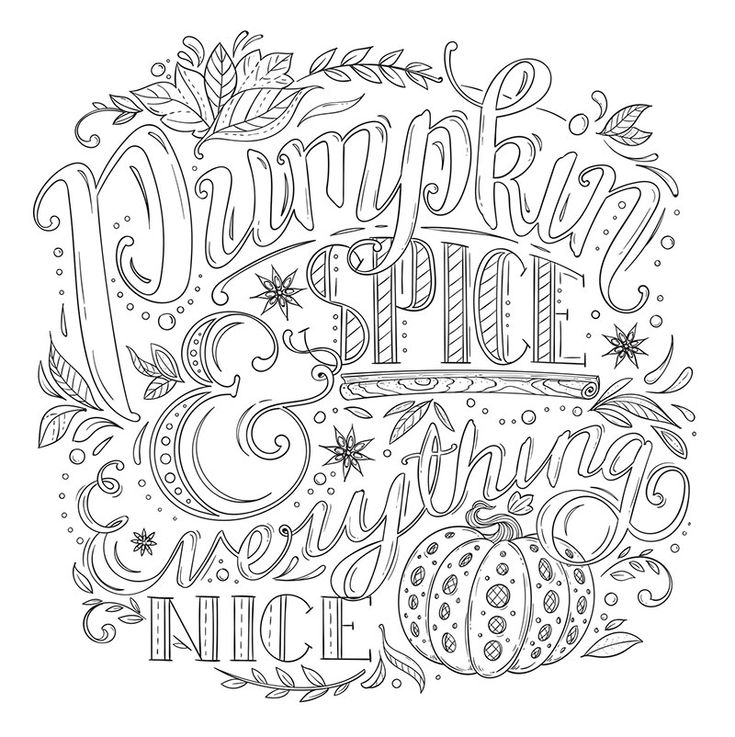 Free coloring pages. Pumpkin Spice & Everything Nice ...