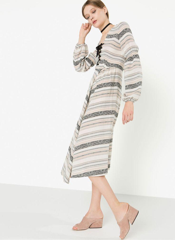 Uterqüe España Product Page - Última semana - Ver todo - Vestido multirayas - 99