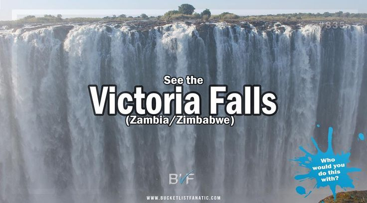 Is Victoria Falls on your bucket list? #bucketlist #blf #victoriafalls