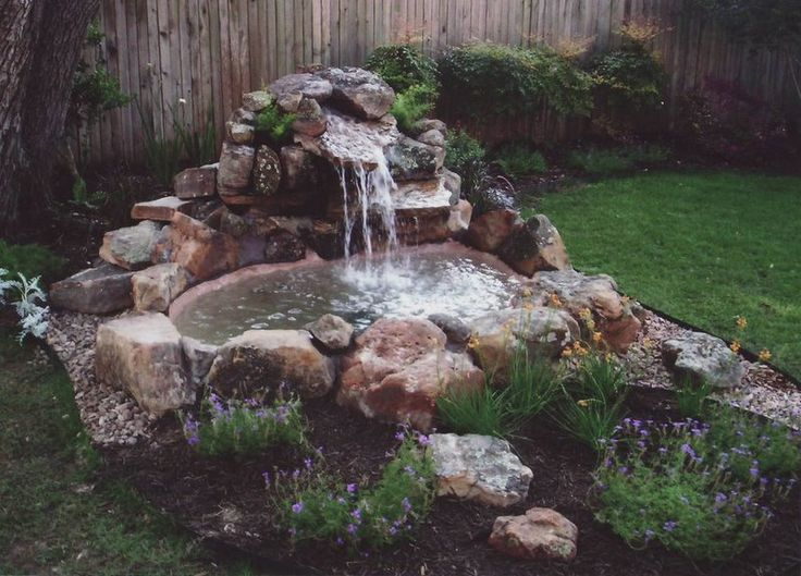 Pondless waterfall gardening pinterest waterfalls for Small water features