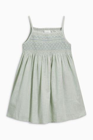 Платье мятного цвета со сборками (3 мес.-6 лет)