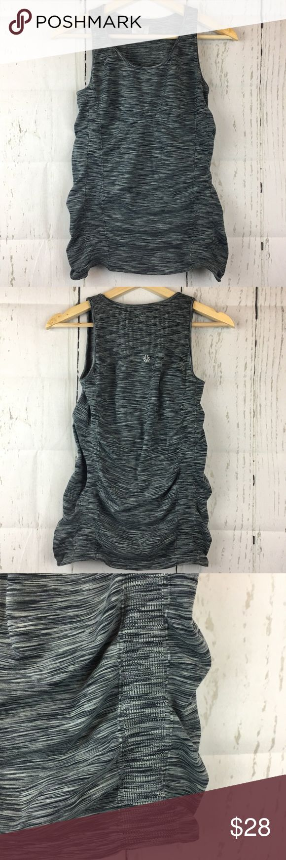 • Athleta • Stretchy Gray Athletic Tank Top This tank top is in excellent condition!!! No rips, stains, or flaws. Sorry, no trades or pay pal but offers are welcome! Athleta Tops Tank Tops