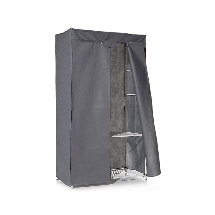 Origami Folding Steel Closet with Cover - White
