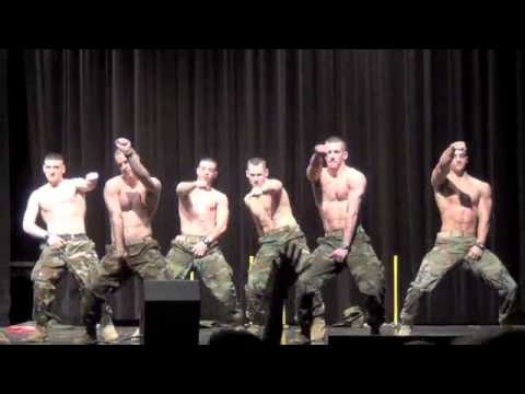Semper Fi at Virginia Tech. Sexy military men breaking it down real life 'Magic Mike' style