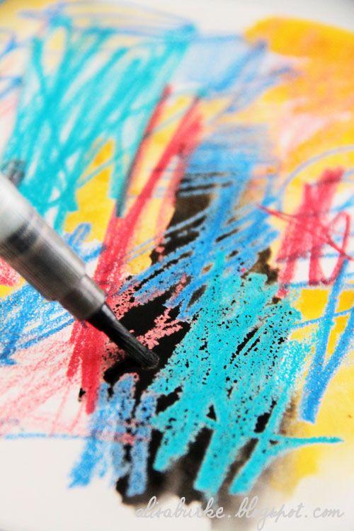 different crayon techniques