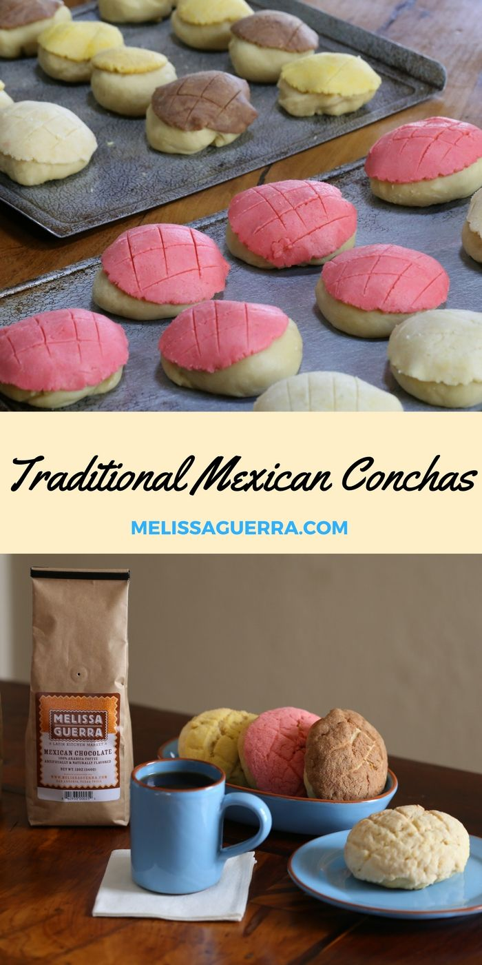 Traditional Mexican Conchas: We have a great recipe over on our blog for traditional Mexican Conchas. Anyone can make these yummy treats! Serve with Mexican Chocolate Coffee, and you'll be in heaven!