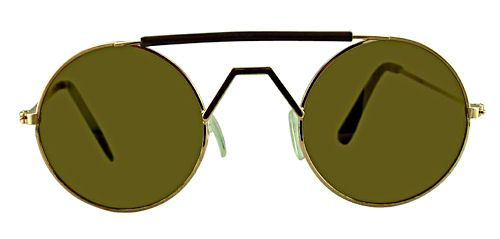 Mack Small Round Mirrored Sunglasses - 143B Silver/Gold