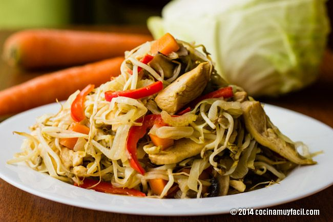 Receta de Chop suey de pollo | cocinamuyfacil.com                                                                                                                                                     Más