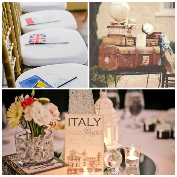 Perfect travel themed wedding ideas!