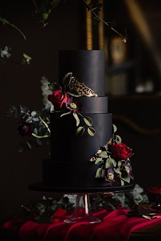 Show-Stopping Burgundy And Black Wedding Ideas; #WeddingIdeas #Burgundy #WeddingColors