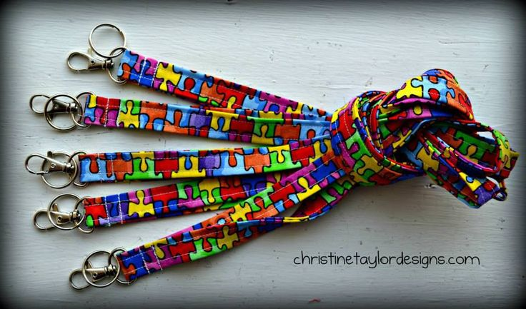 Autism Awareness -  Lot of 10 lanyards