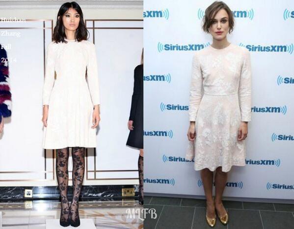 Keira Knightley In Huishan Zhang - SiriusXM. RE-tweet and favorite it here: https://twitter.com/MyFashBlog/status/483753719486353408/photo/1