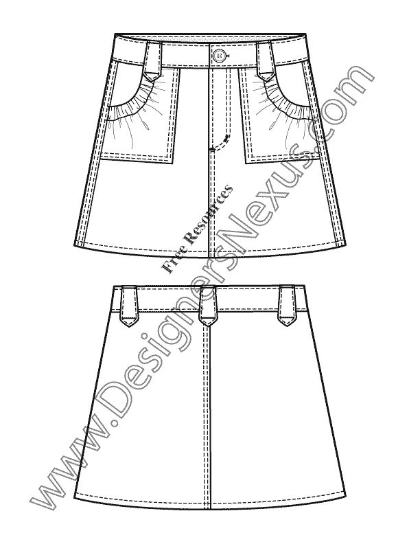 117 best Technical fashion drawings skirts images on