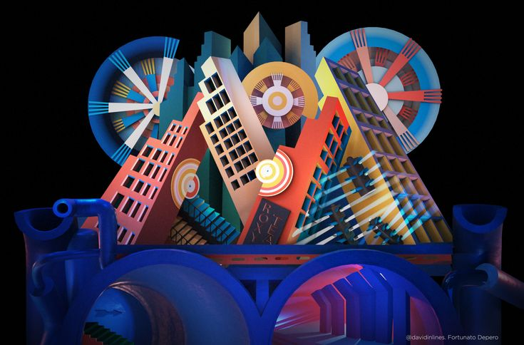 #NewYork #FortunatoDepero en #3D #AutodeskMaya #ArnoldRender :)