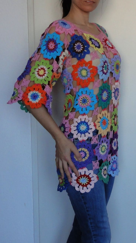 Вязание крючком хиппи ретро стиль винтаж Boho цыганский цветочный на GlamCro