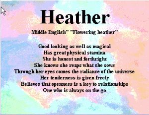 ♫ ♥  Heather Name Meaning ♥  ♫